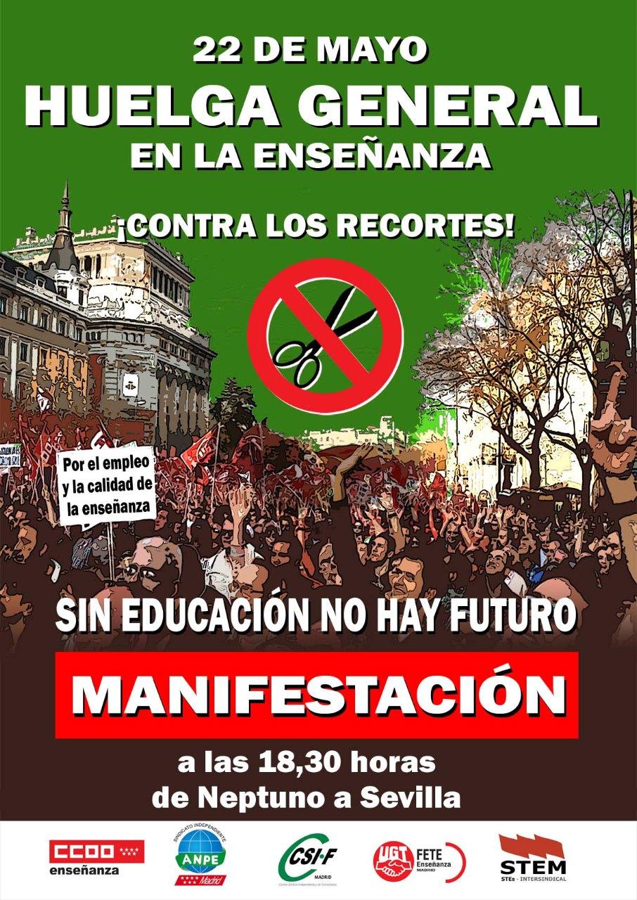22M Huelga y manifestación 18.30 Neptuno-Sevilla