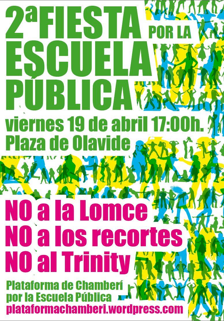 2º Fiesta por la Escuela Pública - 19 Abril 17.00h. Plaza de Olavide
