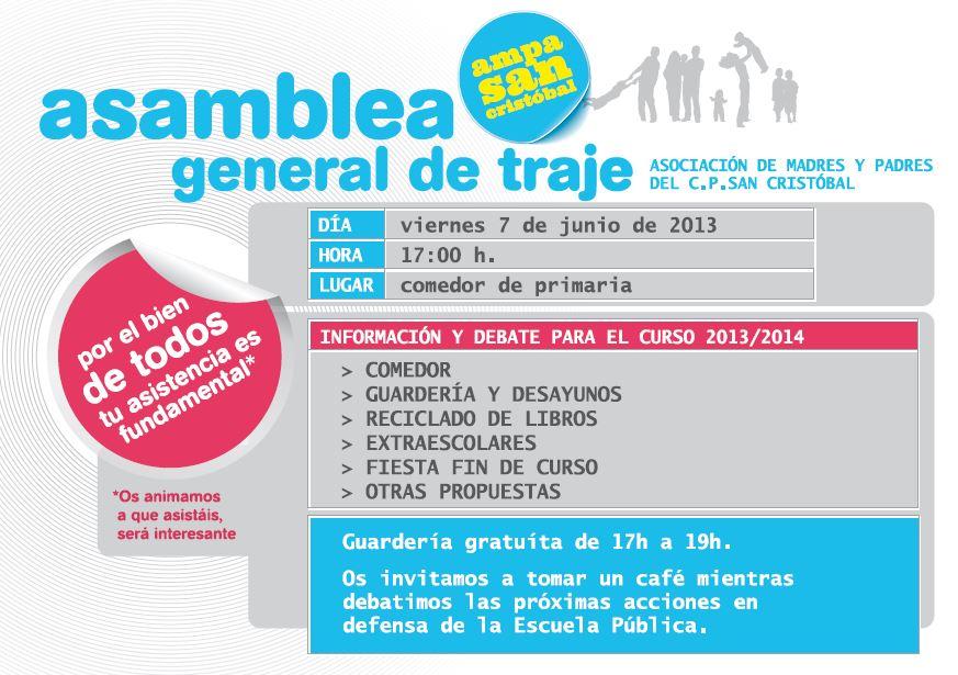 Asamblea General AMPA - 7.06.2013