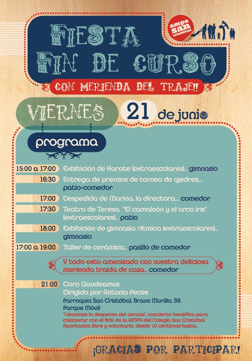 FIESTA FIN DE CURSO 21-06-2013