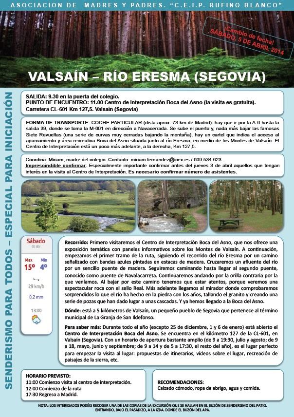 Excursión a Valsaín - Río Eresma