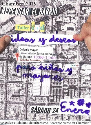 Taller de urbanismo para niños y mayores: repensar Chamberí. Sábado 24 de enero.