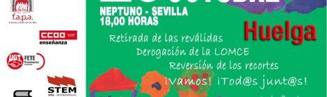 Manifestación contra las reválidas, la LOMCE y los recortes en educación. Miércoles 26, 18h Neptuno