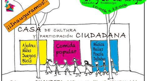 Inauguración de la Casa de cultura y participación ciudadana. Sábado 27, Domingo 28