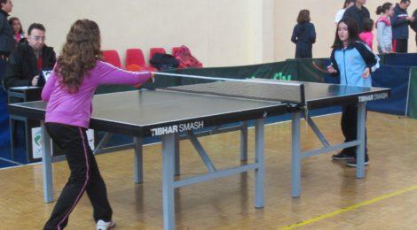 Actividad de ping pong en la casa de la cultura