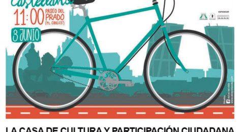Gran Bicifestación. Carril Bici en Castellana. Domingo 3 de junio 11h paseo del prado.
